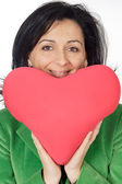 Attractive lady enamored in san Valentine — Stock Photo