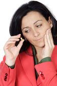 Woman with toothache — Stock Photo