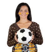 Follower of the Spanish soccer team — Stock Photo