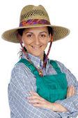 Beautiful woman gardener — Stock Photo