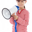 Stock Photo: Girl with megaphone