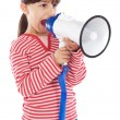 Girl with megaphone - Stockfoto