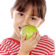 Girl eating an apple - Stockfoto