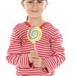 Girl with lollipop — Photo