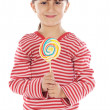 Girl with lollipop — Stock fotografie