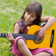 Girl with a guitar — Stock Photo #9625097
