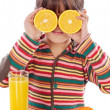 Royalty-Free Stock Photo: Child with oranges