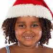 Beautiful girl with hat of Santa Claus — Stock Photo #9625253