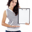 Teen whit clipboard — Stock Photo
