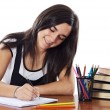 Attractive girl student - Stock Photo