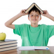 Adorable student boy — Stock Photo