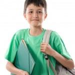 Back to school. Beautiful student boy — Stock Photo #9625583