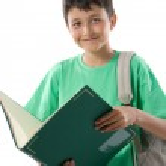 Adorable child reading a book — Stock Photo