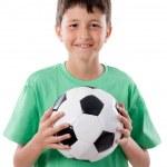 Adorable boy with ball — Stock Photo