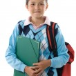 Back to school. Pretty student boy - Foto de Stock