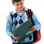 Back to school. Beautiful student boy — Stock Photo #9625683