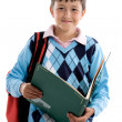 Back to school. Beautiful student boy — Stock Photo