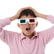 child whit 3d glasses — Stock Photo