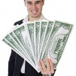 Attractive young person businessman - Stock Photo