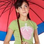 Girl whit umbrella — Stock Photo #9625981
