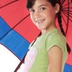Girl whit umbrella — Stock Photo #9625984