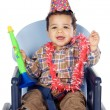 Adorable boy celebrating your birthday — Stock Photo