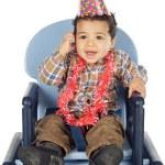 Adorable boy celebrating your birthday — Stock Photo #9626236