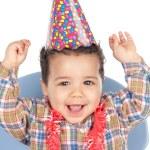 Adorable baby celebrating the birthday — Stock Photo #9626239
