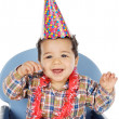 Adorable boy celebrating your birthday — Stock Photo #9626241
