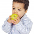Adorable baby eating an apple — Stock Photo #9626248