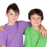 två funny barn — Stockfoto