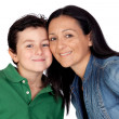 Adorable mother and her beautiful son — Stock Photo #9626379
