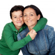 Adorable mother and her beautiful son — Stock Photo