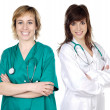 Royalty-Free Stock Photo: Two doctor women