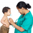 Royalty-Free Stock Photo: Lady doctor with a baby