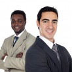 Team of businessman — Stock Photo