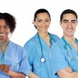 Medical team of three doctors — Stock Photo #9626648