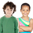 Two beautiful children of different races — Stock Photo #9626665