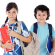 Two smalls students — Stock Photo