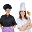 Royalty-Free Stock Photo: Couple of cooks women with black uniform