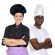 Teamwork of chefs — Stock Photo #9626803