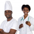African american workers — Stock Photo