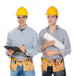 Two construction workers — Stock Photo