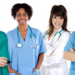 Multi-ethnic medical team - Stock Photo