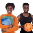 Two african american teachers — Stock Photo