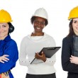 Team of construction workers — Stock Photo