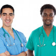 African and caucasian doctors — Stock Photo