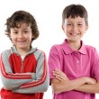 Two children smiling — Stock Photo #9626892