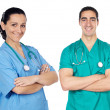 Stock Photo: Small group of young doctors