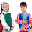 Stock Photo: Two girls students returning to school
